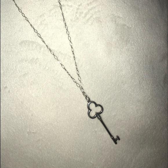 f9d39b499 tiffany & co. silver trefoil key necklace. M_5ab2efa11dffdaebafe7331a